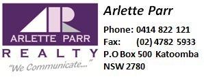 APR Arlette Parr Realty - Katoomba