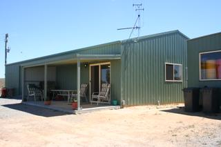 Front of shed