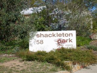 Sign at entrance