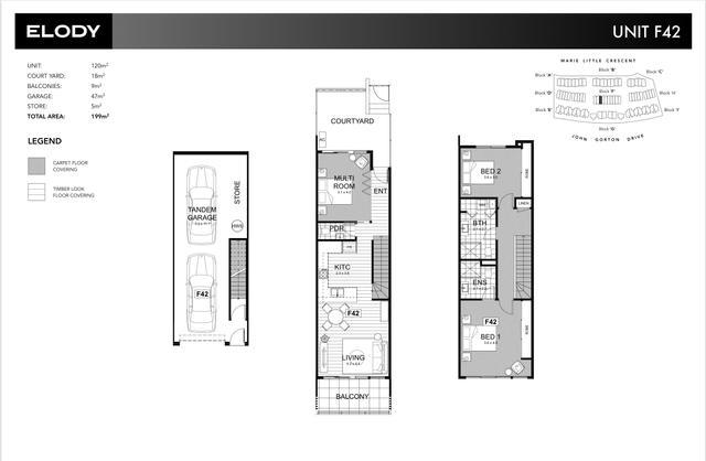 Elody - U42 - 120m2, 3 Bedroom townhouse, ACT 2611