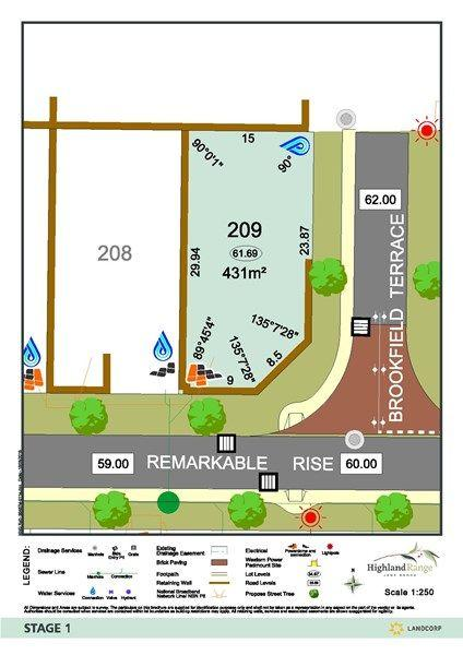 Lot 209 Corner Of Brookfield Terrace And Remarkable Rise, WA 6056