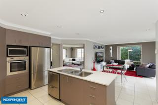 Kitchen overlooking living areas