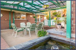 Paved Entertaining Area with Water Feature