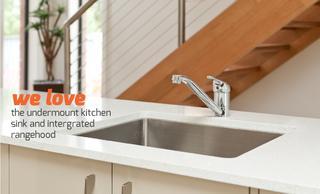 We love - the undermount kitchen sink