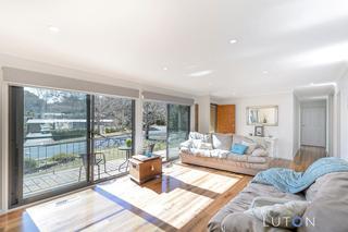 Formal lounge bathed in light