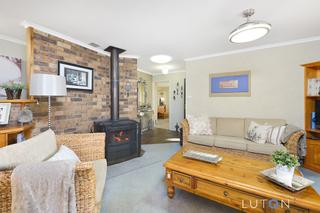 Family Room with Slow Combustion Fire