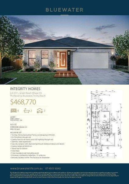 Lot 2311 Green Reach (Stage23) The Reserve, Bluewater, QLD 4879