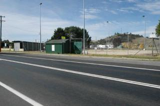Community tennis centre across the road